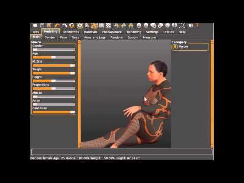 MakeHuman, new pose system for v.1.1