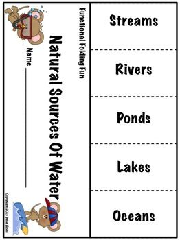 streams, rivers, ponds, lakes, oceans    NOW 202 PAGES! FUNCTIONAL FOLDING FUN ~ Just print, fold, cut and you are ready to go! Print on colored paper for an added variety! This 200+ page unit includes a variety of folding flap books including: blank books which can be used for any topic, Venn Diagrams, word families, contractions,