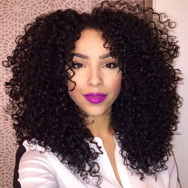 Curlies + purple lips