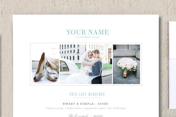 Wedding Photographer Pricing Guide by Design by Bittersweet on @creativemarket