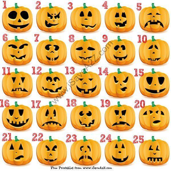 groß 25 (Easy) Kostenlose Halloween Kürbis Schnitzvorlagen