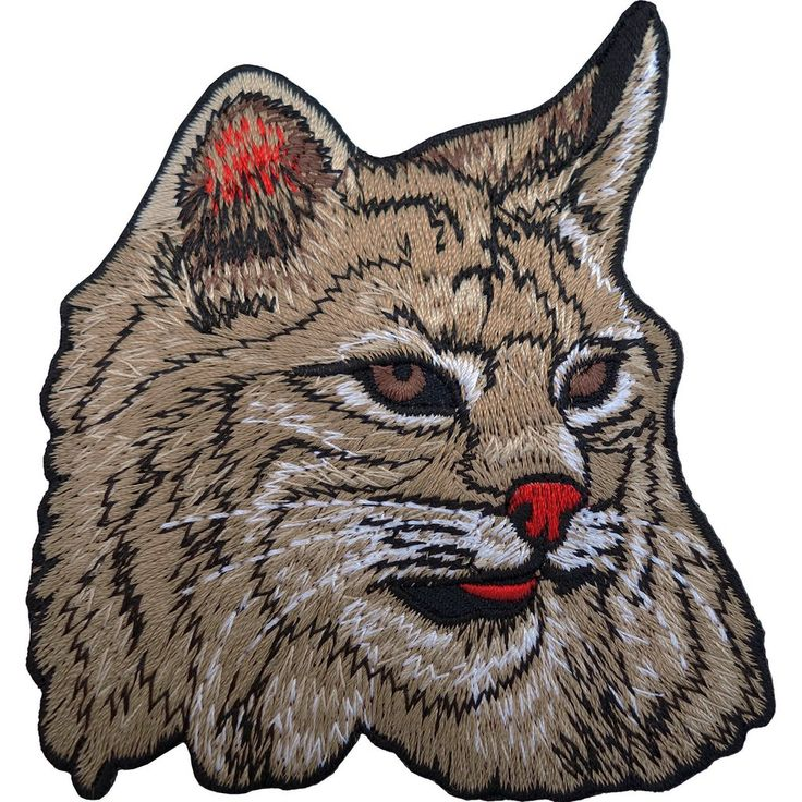 Tabby Cat Iron On Badge Sew On Patch Embroidered Pet Animal Embroidery Head Face
