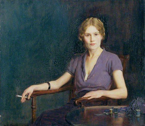 Frederick William Elwell. Девушка с сигаретой. 1942. / Удивительное искусство