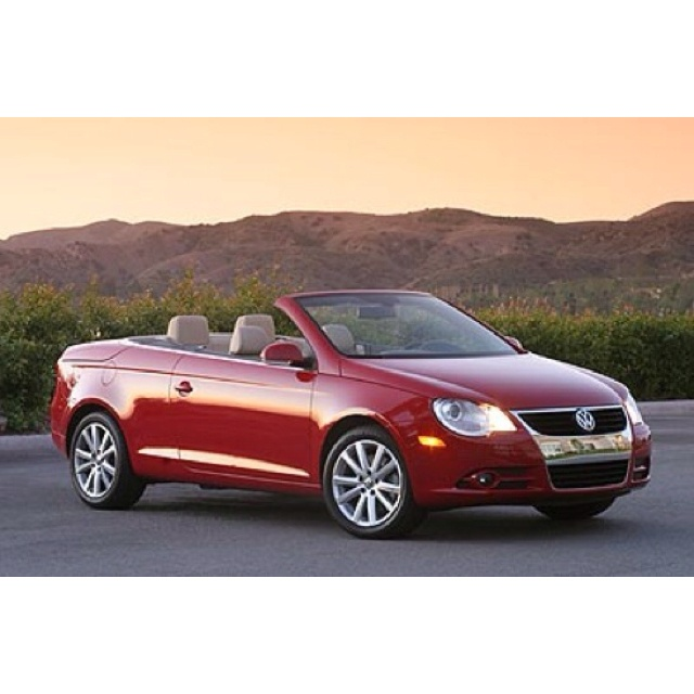 VW EOS -- seriously love the red!