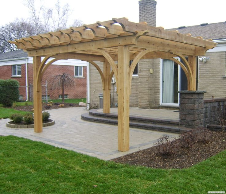 Wood Deck With Pergola                                                                                                                                                                                 More
