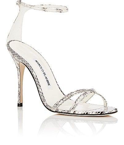 6a0901a6c0f4 Manolo Blahnik Paloma Snakeskin Sandals - Heels