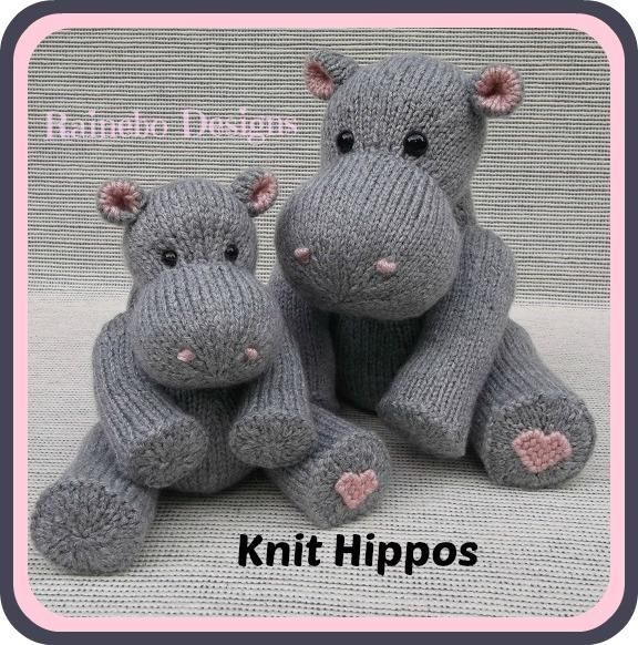 Looking for your next project? You're going to love Knit Hippos by designer Rainebo. - via @Craftsy