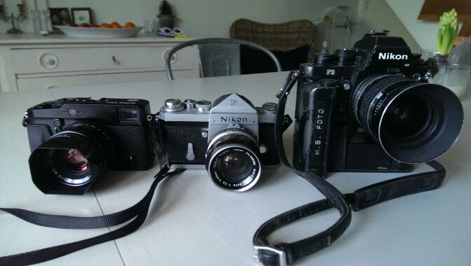 Fuji x pro and Nikon f and Nikon f3p
