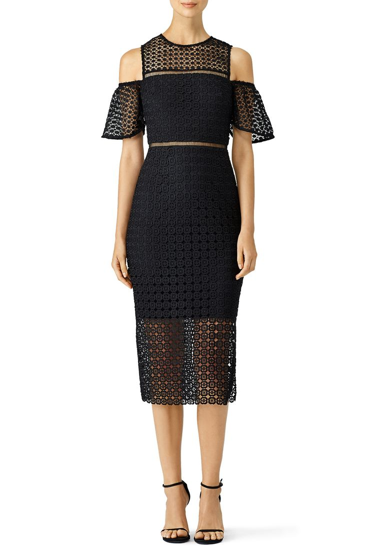 Rent Geometric Lace Cold Shoulder Sheath by Cynthia Rowley for $65 - $75 only at Rent the Runway.