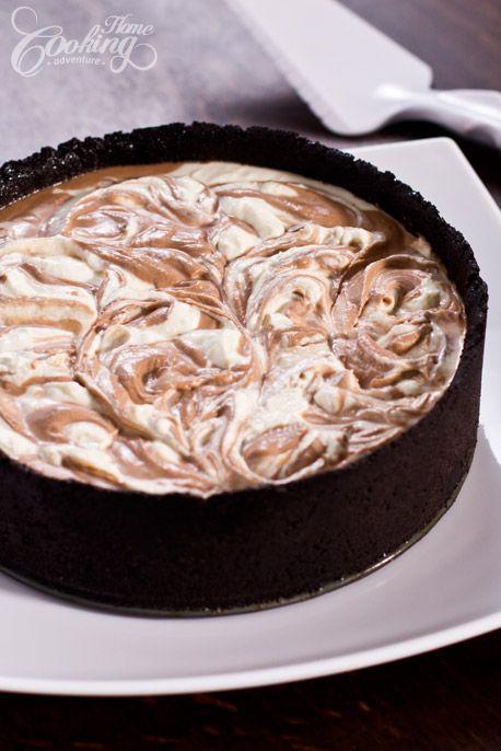 No-Bake Nutella Swirl Cheesecake-1