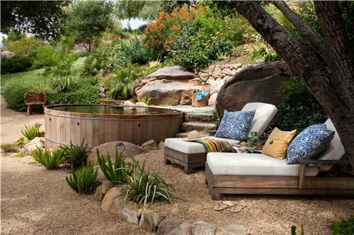 fantasizing about sneaking a hot tub into my back yard...this idea just might work!