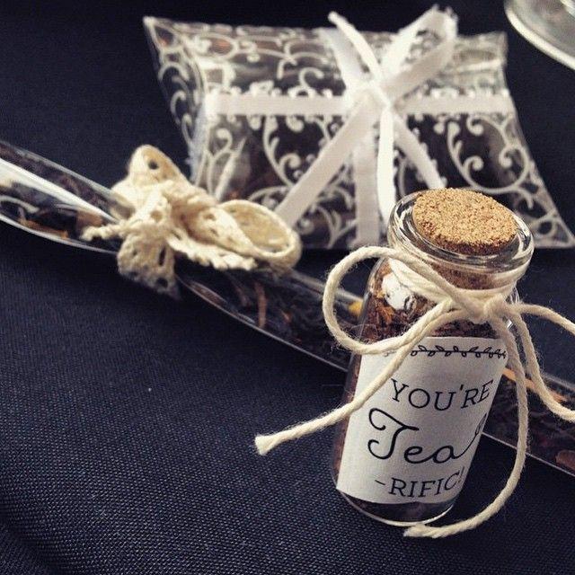 Cute wedding favor ideas by @52weeksofpolish! Love these #steepedtea  http://www.steepedtea.com