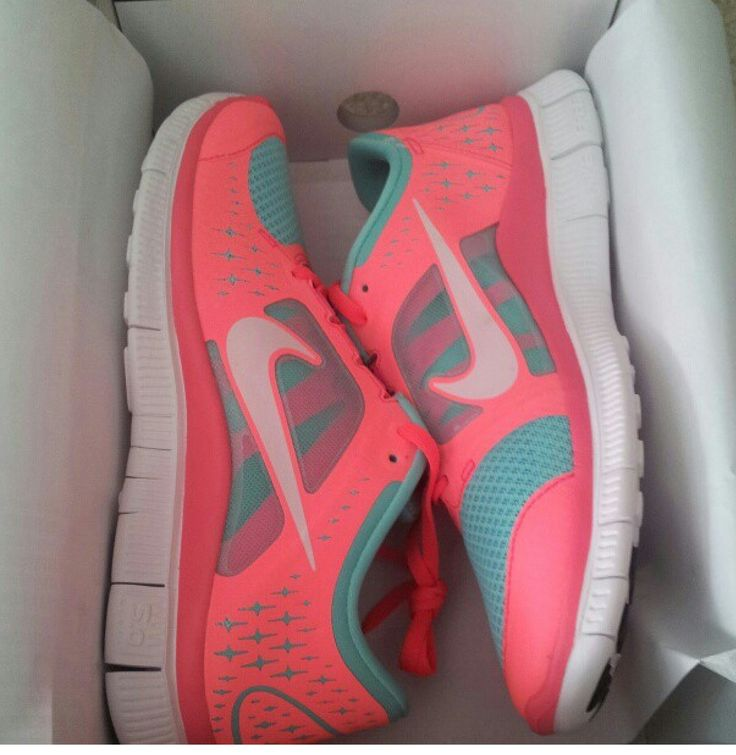 coral & teal nikes.