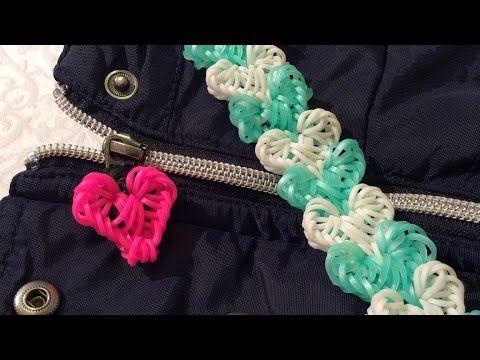 Rainbow Loom Nederlands Love Lock Bracelet - Hook Only Tutorial @Eveline_Maureen