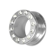 Steel Jeweled Fleshtunnel, Pluggar & Tunnlar, Stål 316L hos Tribe piercing webshop