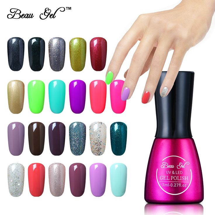 Beau Gel UV Vernis Semi Permanent 7Ml UV Nail Gel Polish Soak Off Long Lasting LED Nail Polish Lacquer Need Candy Gel Gelpolish
