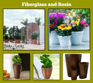 Resin and fiberglass planters have a lightweight, durable construction that makes them a favorite for home and commercial gardens alike.