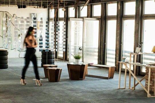 Our corten furniture shoot at design week venue in Bratislava