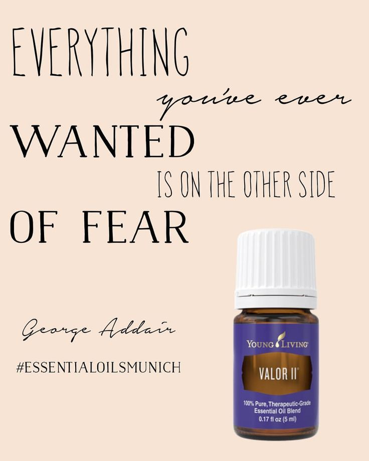 """Everything you've ever wanted is on the other side of #fear"" #quote by George Addair ▶️Go for your Valor II Blend in our bio link ◀️ #essentialoilsmunich #valor #ValorII #Nofear #fearfree #therapy #overcomingfear #tapping #EFT #AFT #EFTTechnique #emotionalfreedomtechnique #therapist #aromafreedomtechnique #instaquote #quoteoftheday #quoteofthenight"