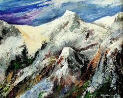 Afbeeldingsresultaat voor abstract berg schilderij