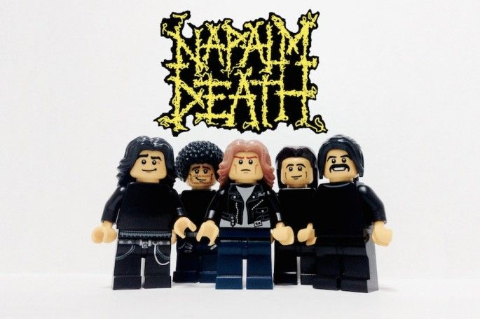 groupes de musique en lego napalm death   Des groupes de musique en Lego   photo musique Lego image groupe Beatles Adly Syairi Ramly
