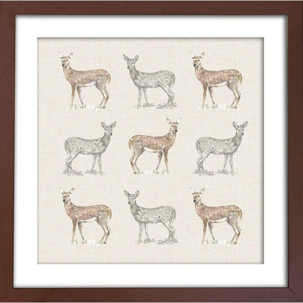Buy Arthouse Deer Filled Frame Wall Art at Argos.co.uk - Your Online Shop for Pictures and wall art, Wall art, pictures and photo frames, Home furnishings, Home and garden.