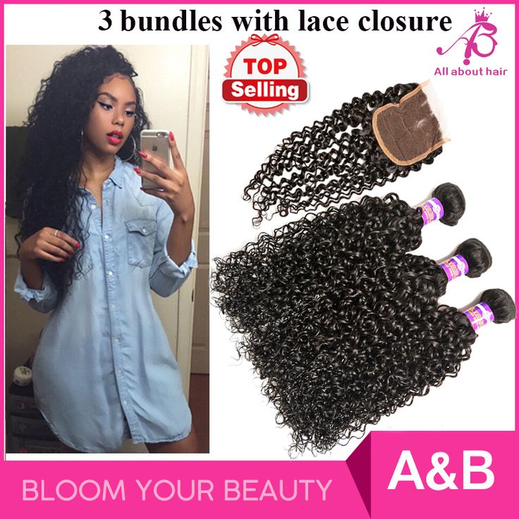 8 Best Curly Hair Bundles With Lace Closure Images On Pinterest
