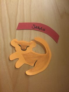 Simba door decs to go with my Lion King bulletin board.