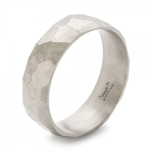 This unique men s wedding ring features a hammered and brushed finish all  the way around the palladium white gold band  It was created for a client  from  128 best Our Favorite Rings images on Pinterest   Design your own  . Design Your Own Mens Wedding Ring. Home Design Ideas