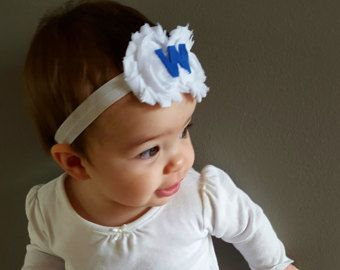 Chicago Cubs Headband/ Fly the W Flag headband/Chicago Cubs Headband/ Cubs Win Headband/ W Flag Headband/ Newborn Headband/ Adult Headband