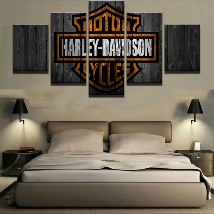 Harley Davidson Room Painting Ideas