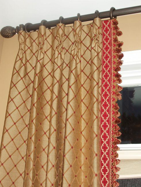 1000 Images About Drapes On Pinterest Fringe Braid Chain Links And Fabrics