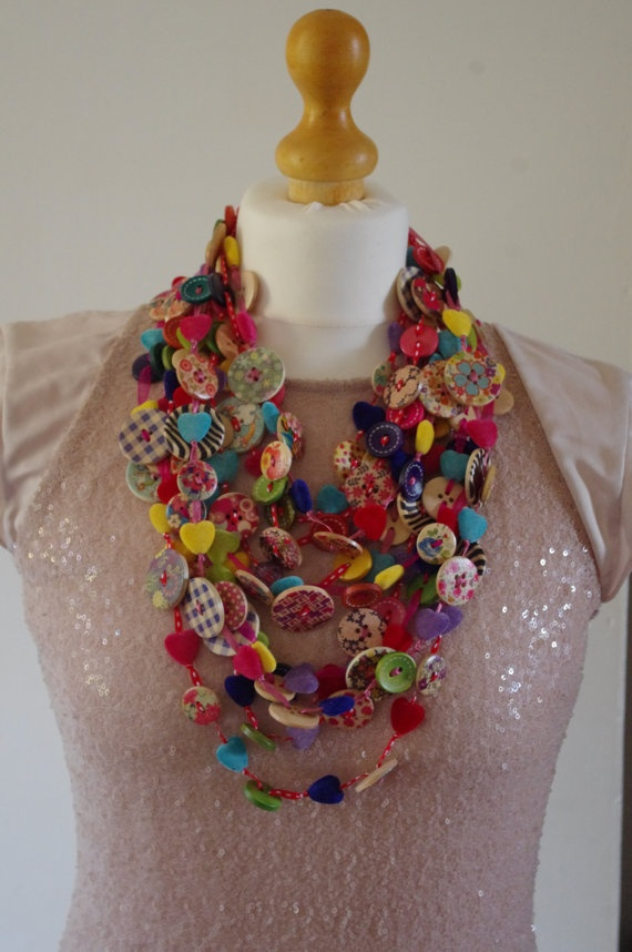 Buttons+Necklace...Retro+Necklace+Fonky+by+TheButtonofmyHeart,+£11.50