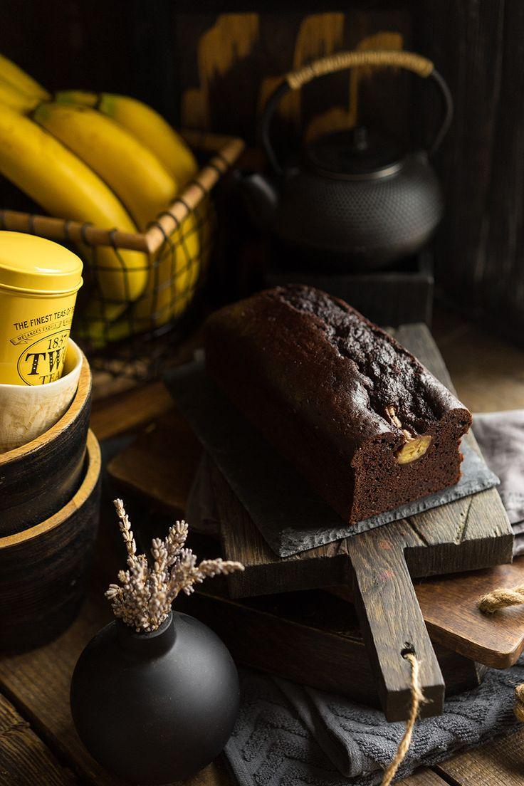 Banana Bread Сливочное масло — 115 г Мука — 175 г Сахар — 200 г Какао — 60 г Сметана 15% — 130 г Банан — 200 г Яйца — 2 шт Сода — 1 ч.л.