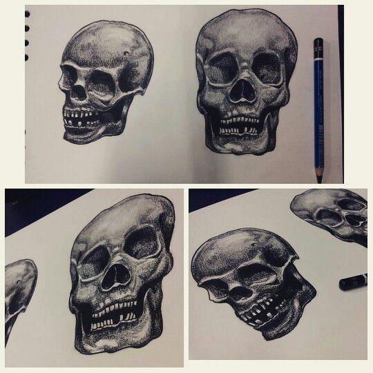 #skulls #charcoal #designs #tattoodesign #draw #ximenabohorquez