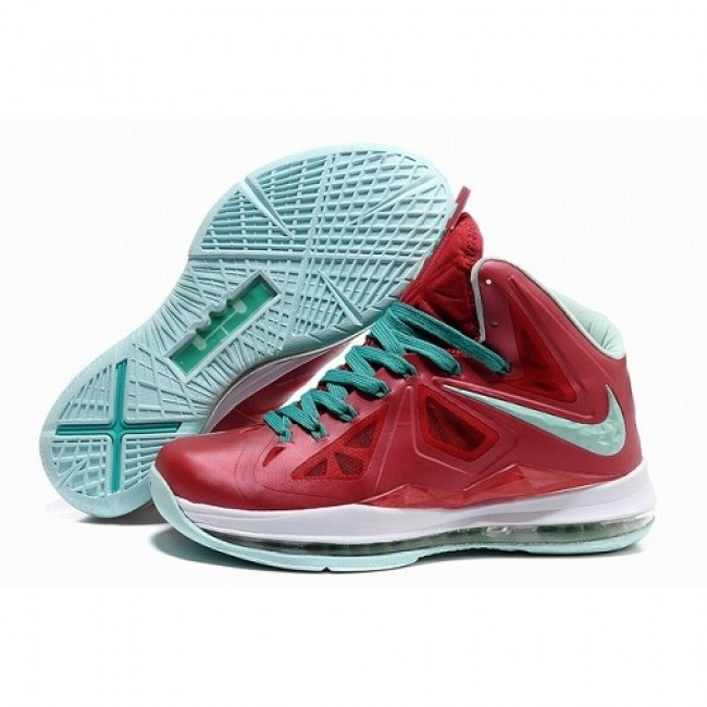 Authentic Nike Lebron X 10 Varsity Red Fresh Green-White Shoes store sell  the cheap Nike Lebron online, it is high quality Nike Lebron sneakers and  we offer ...