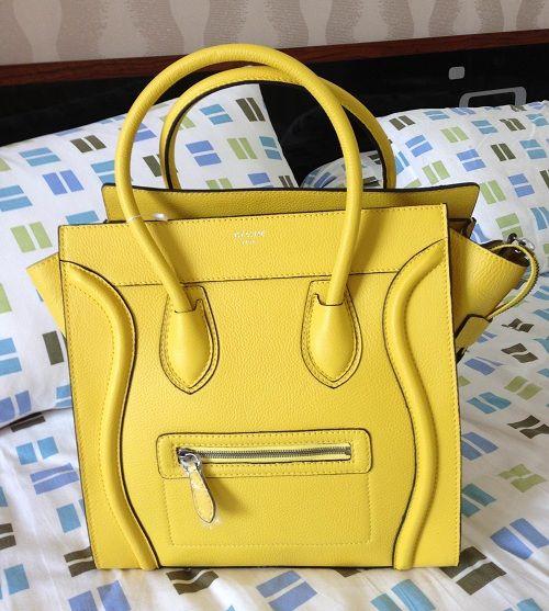 Celine Luggage Citron Handbag