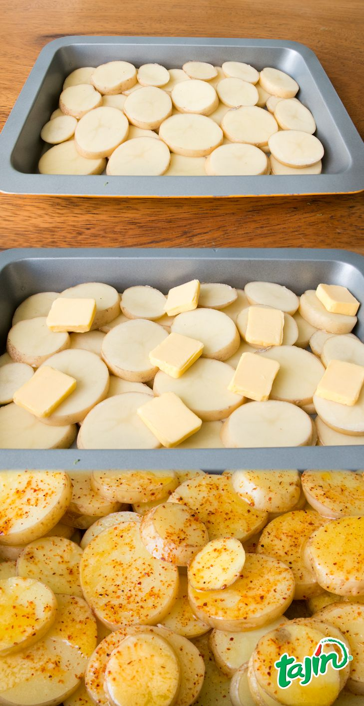 Skip on the dull potatoes with a little butter and a sprinkle! #TajinHacks