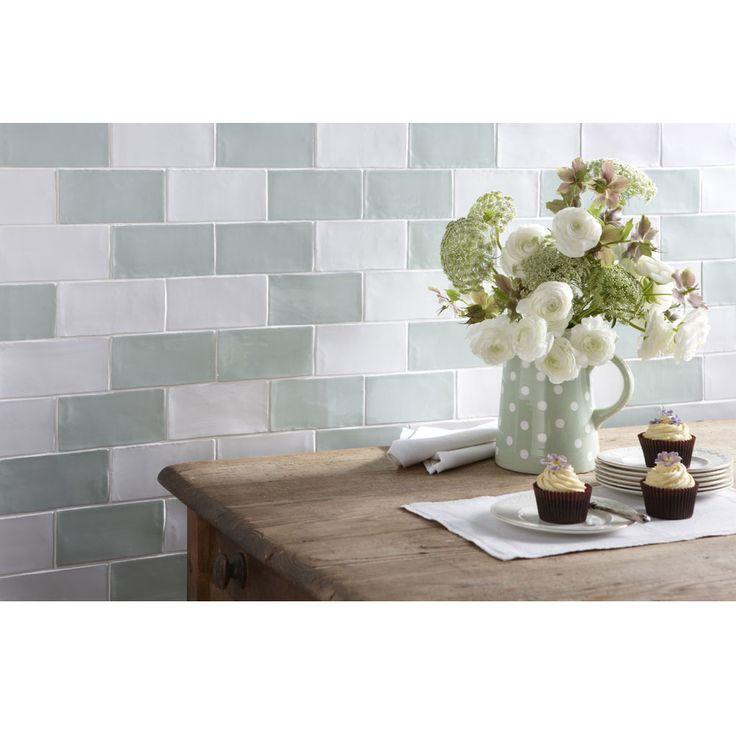 Laura Ashley - 22 Artisan Eau De Nil Gloss Wall Tiles - 150x75mm - LA51522 Profile Large Image