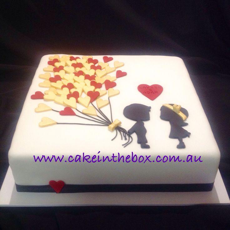 Engagement balloon cake