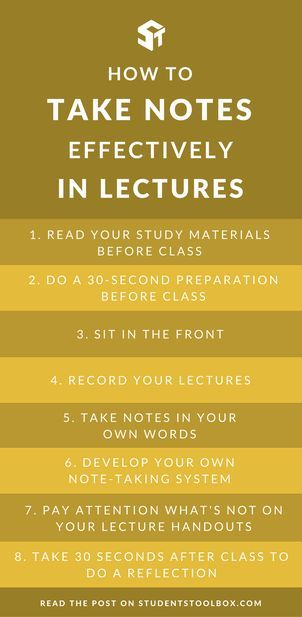 10 ways to take better lecture notes