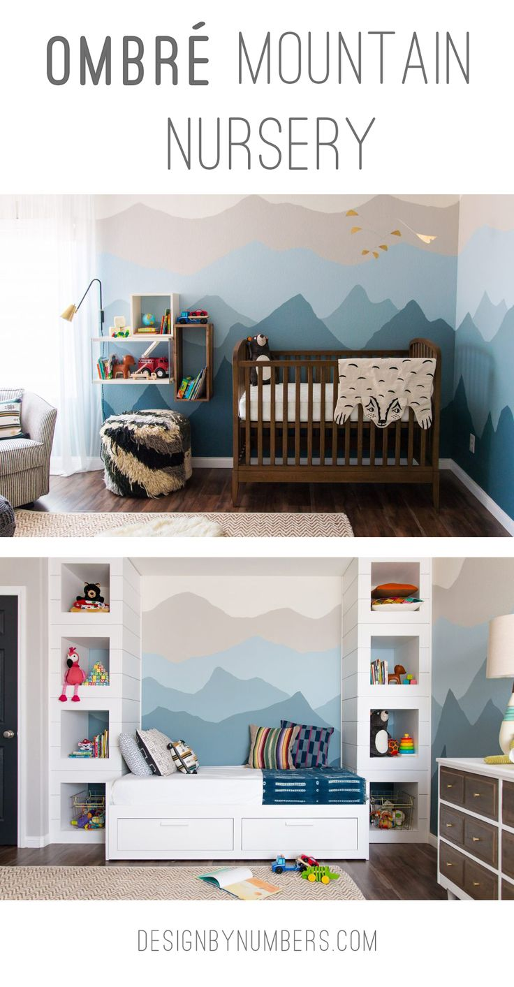 Design by Numbers | Ombré Mountain Nursery | http://designbynumbers.com