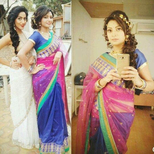 Shraddha(Monica Khanna) and Suman(Pooja Sahu) on the sets of TPK