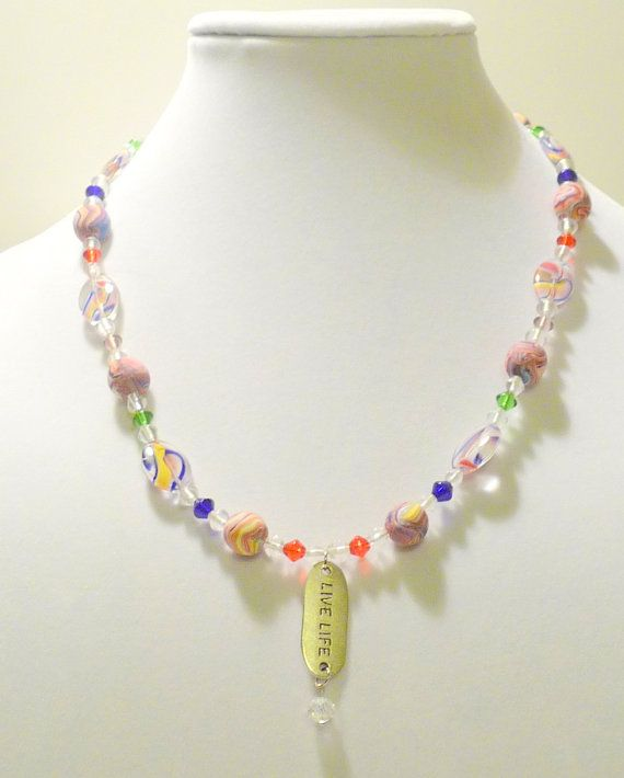 Live Life Necklace  OOAK