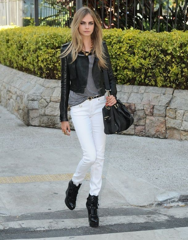 66 best images about White Jeans on Pinterest | Grey sweater ...