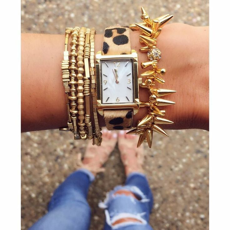 This may be Arm Party Perfection!!   (From left to right)  - Celine Wrap Bracelet in Gold $59  - Pyramid Watch in Exotic $98  - Renegade Cluster Bracelet in Gold $59  Use this link to order: http://www.stelladot.com/ts/tpee6 #GoldJewelleryArmParty