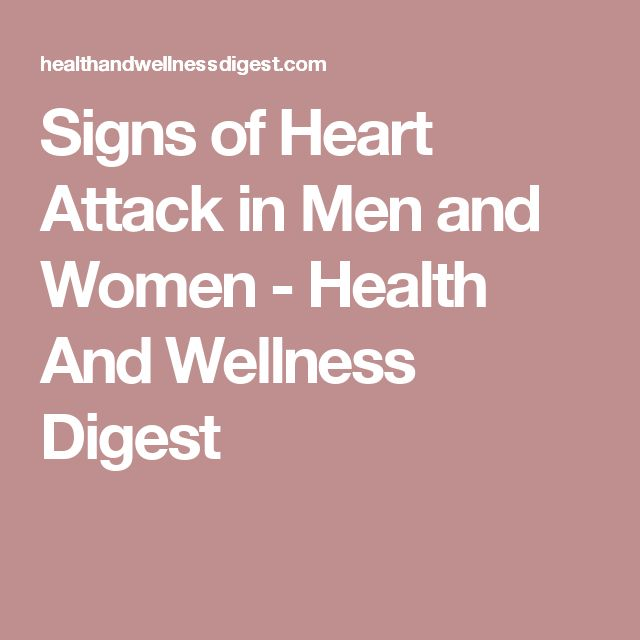 Signs of Heart Attack in Men and Women - Health And Wellness Digest