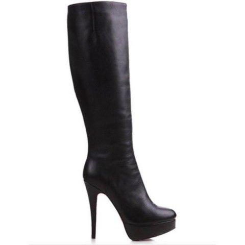Christian Louboutin Vicky Botta 120mm Leather Boots Black