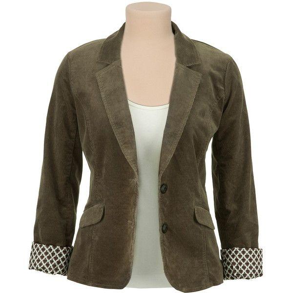 2 Button Corduroy Blazer ($49) ❤ liked on Polyvore featuring outerwear, jackets, blazers, two button blazer, corduroy jacket, brown corduroy blazer, brown jacket and 2 button blazer