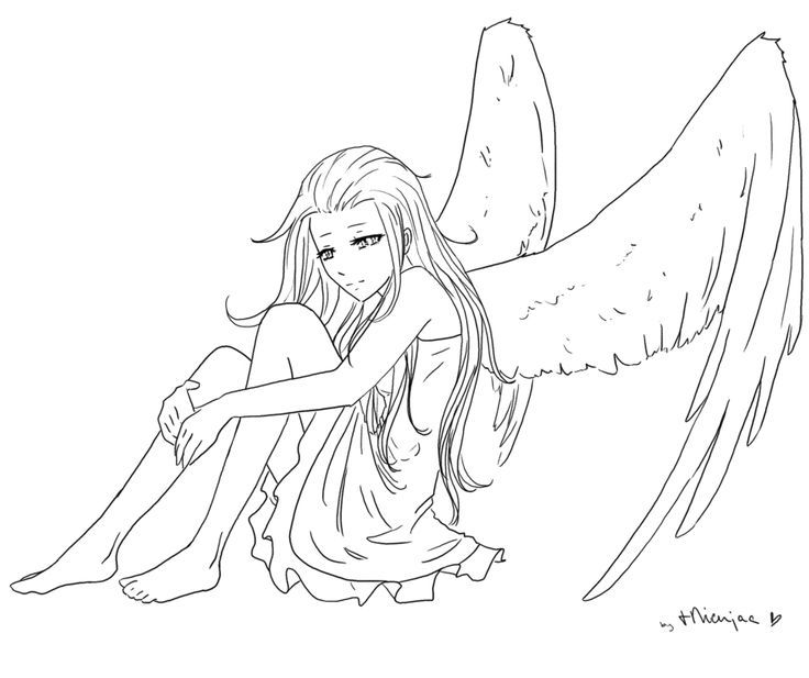 Angel Thingie Lineart By Tnienjaa Angels Pinterest Angel Lineart Anime Coloring Deviantart Lin Elf Drawings Android Wallpaper Anime Android Wallpaper